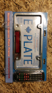 Licence plate scrolling message led sign