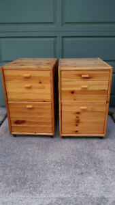 Ikea solid wood chest of drawers/night stands