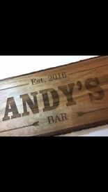 Personalised man cave/ pub shed signs