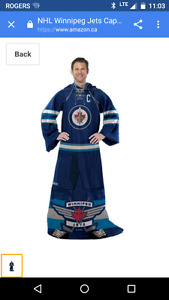 Winnipeg Jets snuggie and blanket