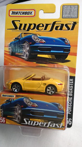 MATCHBOX SUPERFAST NO 56 DIECAST PORSCHE BOXTER YELLOW MINT!!