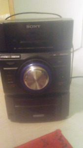 Sony stereo cd player/ipod & iphone dock surround system.