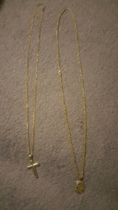 Two 10k Gold Chains For Sale