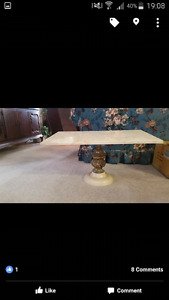 Small marble coffee table