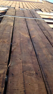 Antique wood wall covering Barn board distressed