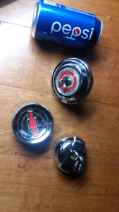 Gas caps & Chevy Horn Button - for classic or vintage car/truck