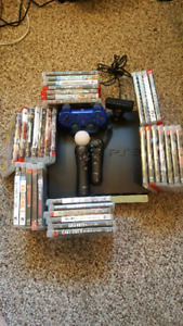 250GB ps3 37 games+psmove