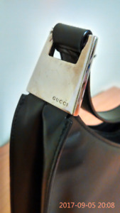 Gucci Handbag Black 11 x 9 inches