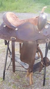 Beautiful western saddle