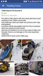 fully rebuilt skidoo 670 summit x
