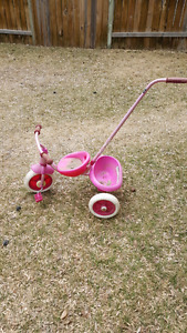 Toddler bike with push handle