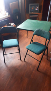 Poker table and 4 chairs