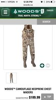 Brand new woods chest waders never used in box 100$