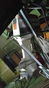 70 hp Johnson / 14' boat / trailer