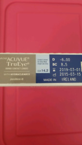 309556106a0 One Day Contact lens Acuvue TrueEye 8.5 -6.00 (90 lenses 45pair)