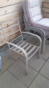 Patio Chairs with Cushions x6