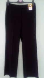 2 Prs Ladies Brand New! Smart Black Trousers size 8, with labels!