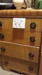 2 WOODEN CHEST OF DRAWERS & 2 DRESSERS
