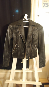 Size 2 Biker style pleather ladies jacket from H&M