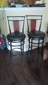 Two Gently Used Bar Stools Cambridge Kitchener Area image 1