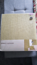New unopened M&S Eyelet Lined Curtains (extra wide)