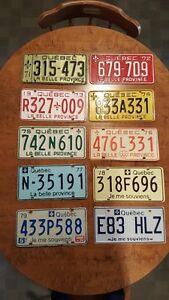 lot de 10 plaques d'immatriculation
