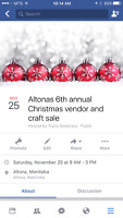 Accepting vendors for our 6th annual Christmas vendor sale