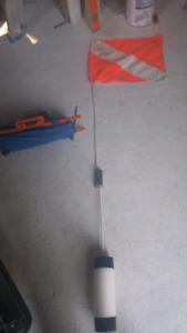 Diver Down Flag. Also spool of woven strap