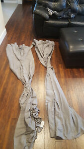 Set of grey curtains