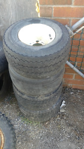 """8"""" golf cart rims with tires (set of 4)"""