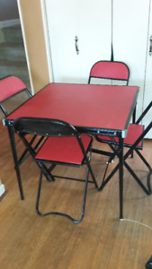 Antique Folding Chairs and Table