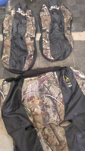 Camo seat covers for 2 front and bench rear seat