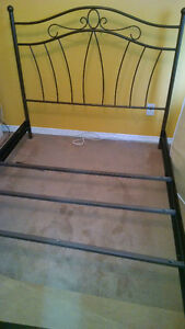 Steel Double bed frame and head board