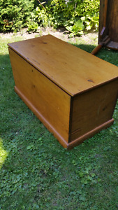 Antique Pine blanket box in Thornbury