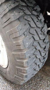 MUD TERRAIN TIRES ON JEEP WRANGLER TJ RUBICON RIMS