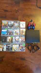 Ps3 + hook ups + 2 controllers +22 games