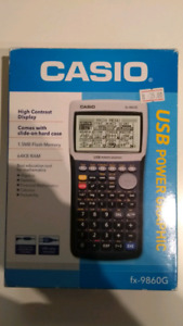 Casio graphing calculator fx9860g