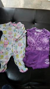 6-9 month pekkle jammies and outfit