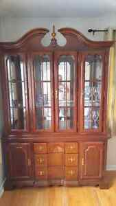 Solid Cherry China Cabinet/Hutch Reduced to$350