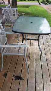 4 seat one table patio set