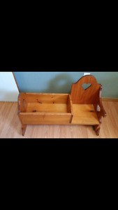Children's Cradle with Rocking Chair