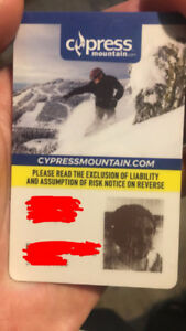 Cypress ski hill mens silver pass