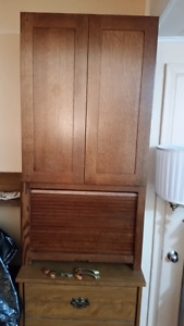 New Kitchen Hutch Oak Tambour door