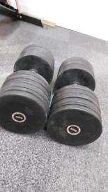 50KG Rubber Dumbells (PAIR)