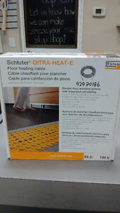SCHLUTER DITRA-HEAT-E FLOOR HEATING CABLE. 83.3 SQ FT