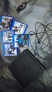 500gig Ps4 with 5 games