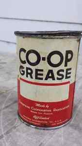 Vintage one pound Co-op grease tin