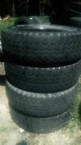 Four LT245 75 17 all season tires.