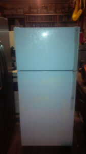 GE white fridge