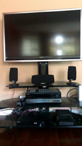 "Sony 42"" tv and Z-Line tv stand"